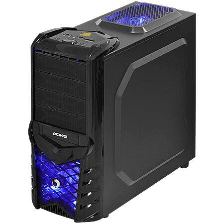Gabinete Gamer Wolf Azul s/ Fonte c/ Cooler Lateral - PCYES