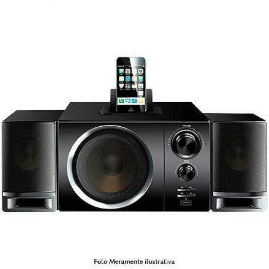 Caixa de Som 2.1 Leadership Bossa Nova 40w RMS com Dock Station P/ Iphone e Ipod