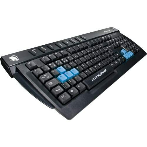 Teclado Gamer Multimídia USB Black Hawk GK702 Preto/Azul FORTREK