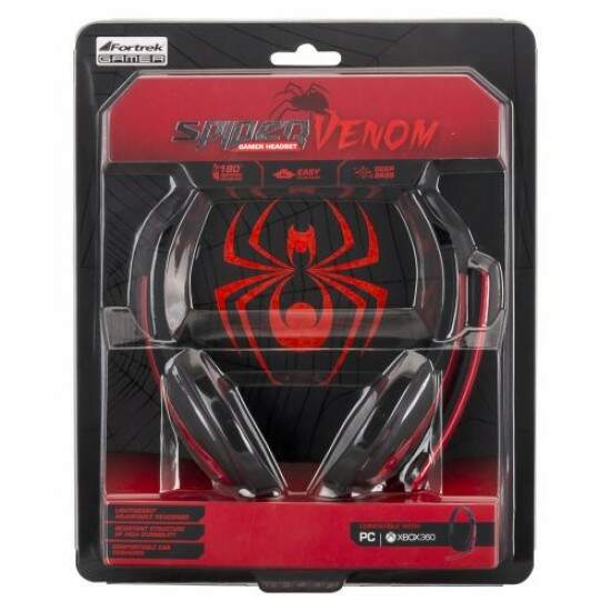 Fone Headset Gamer Spider Venom PC/XBOX SHS701 FORTREK