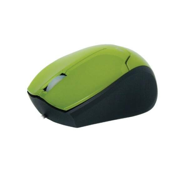 Mini Mouse Óptico Retrátil USB MM601 Verde FORTREK