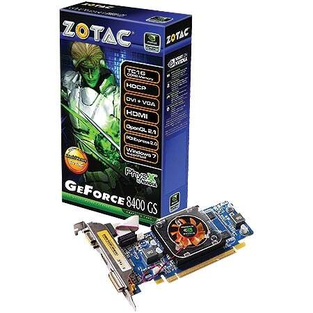 Placa de Vídeo NVIDIA GeForce 8400GS DDR2 1GB Zotac ZT-84MEH4M-FSL