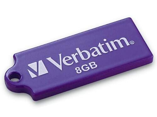 Pen Drive Verbatim Mini Tuff 'N'Tiny 8GB - Roxo