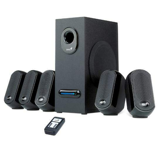 Caixa de Som Genius Home Theater SW-5.1 1010 18w RMS