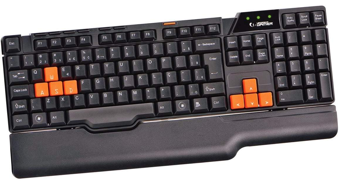 Teclado Multimídia Gamer Easy USB 6773 Leadership