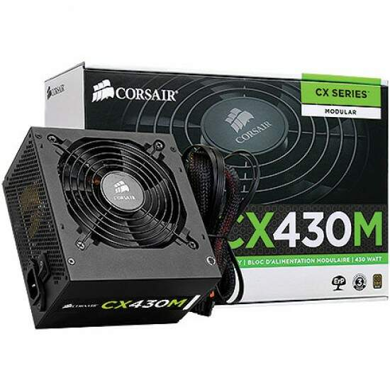 Fonte Corsair Modular 430W CX430M ATX Power Supply - 80 Plus Bronze - CP-9020058-WW