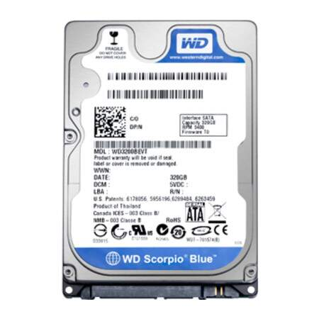 HD Western Digital SATA 320GB 7200 RPM WD3200BPVT Caviar Blue p/ Notebook