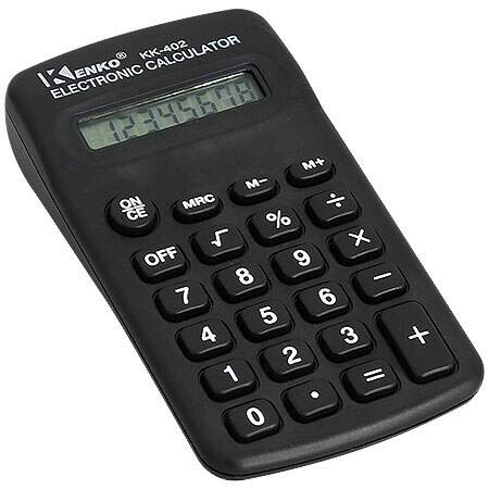 Calculadora 8 Digitos KK-402 Preto