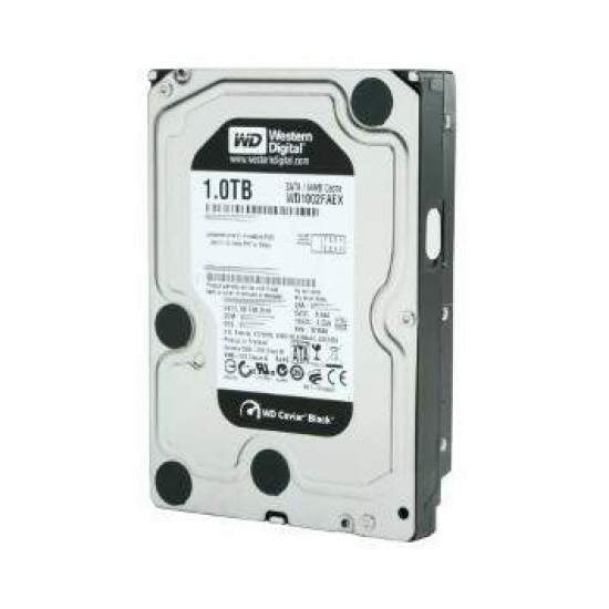 HD Western Digital SATA 1TB 6GBPS 7200RPM 64MB Buffer Caviar Black WD1002FAEX