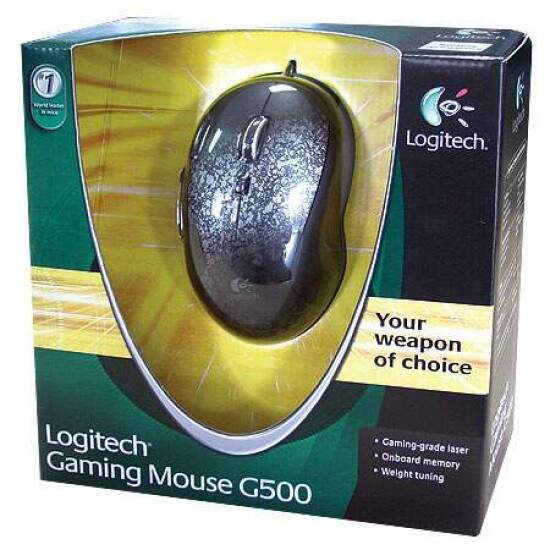 Mouse Gamer Logitech G500 5700dpi USB