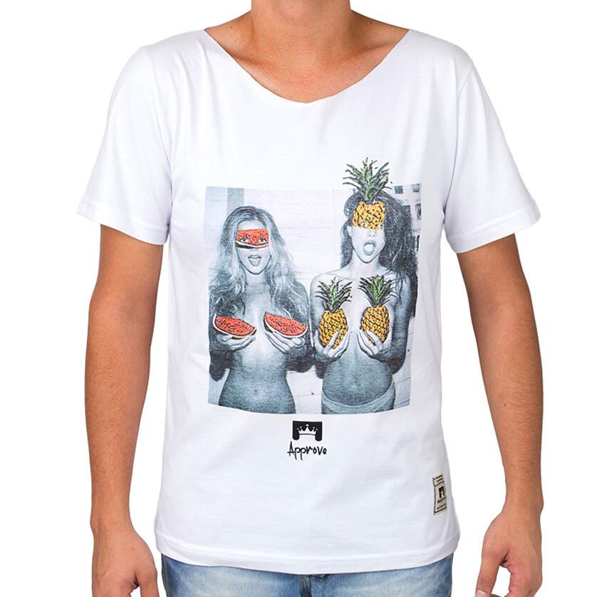Camiseta Just Approve Fruits Branca