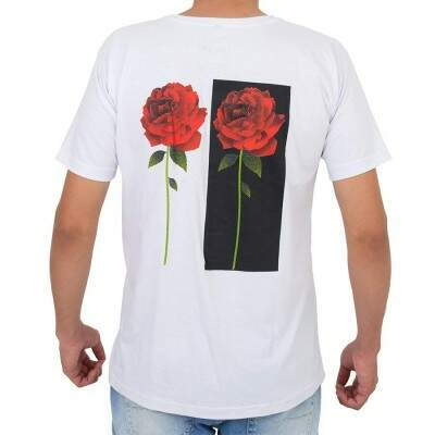 Camiseta Even Two Roses Branca