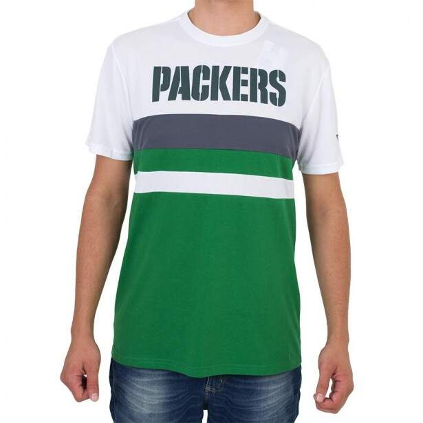 Camiseta New Era Green Bay Packers Branca / Verde