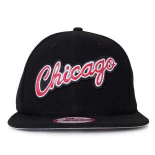 Boné New Era Snapback Chicago Bulls Original Fit Preto