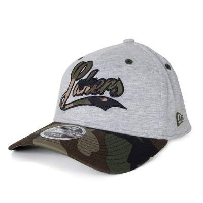 Boné New Era 39Thirty Los Angeles Lakers Aba Curva Cinza / Verde