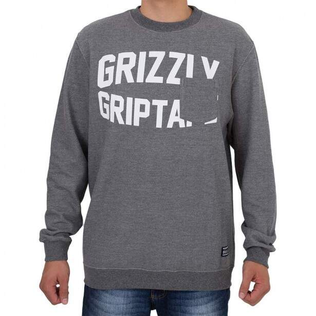 Moletom Grizzly Pocket Cinza