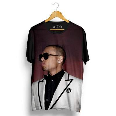 Camiseta Dep Chris Brown Suit Preta