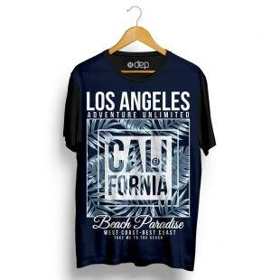 Camiseta Dep Los Angeles Califórnia Beach Marinho