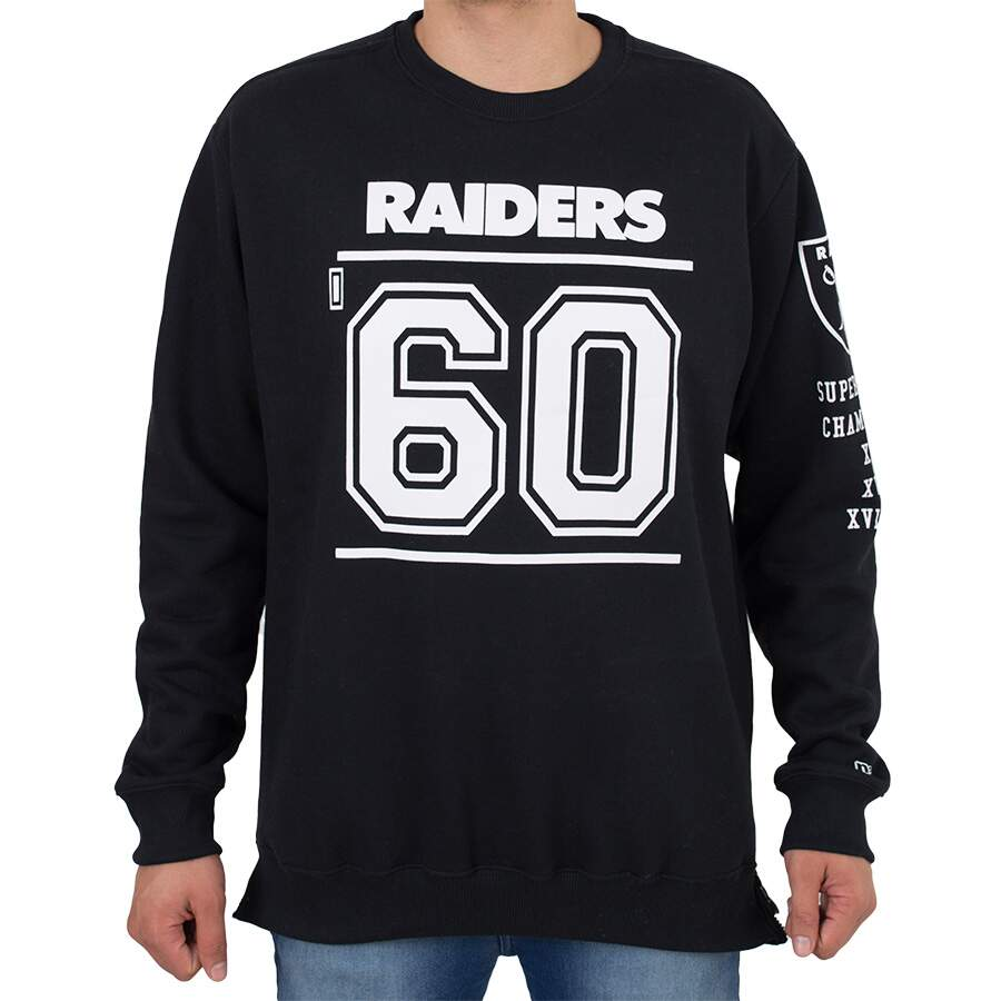 Moletom New Era Oakland Raiders Preto