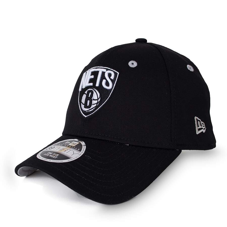 Boné New Era 39Thirty Brooklyn Nets Aba Curva Preto