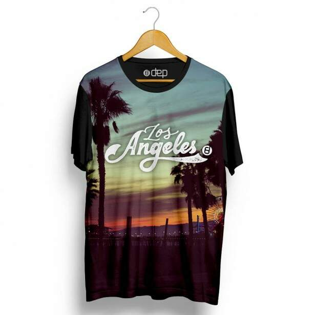 Camiseta Dep Los Angeles Azul