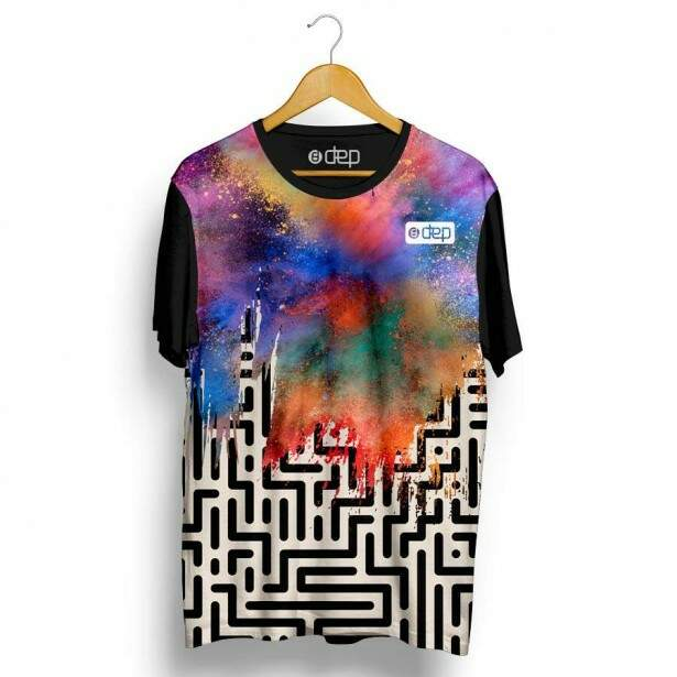 Camiseta Dep Labirinto Multicor