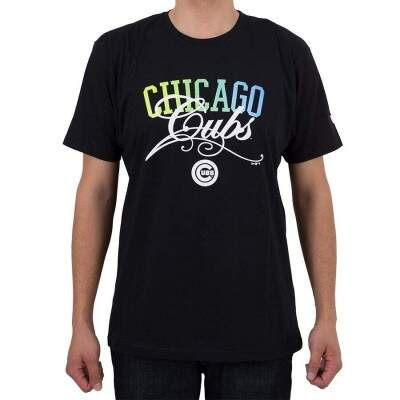 Camiseta New Era Chicago Cubs Preta