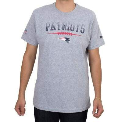 Camiseta New Era England Patriots Stiches Cinza
