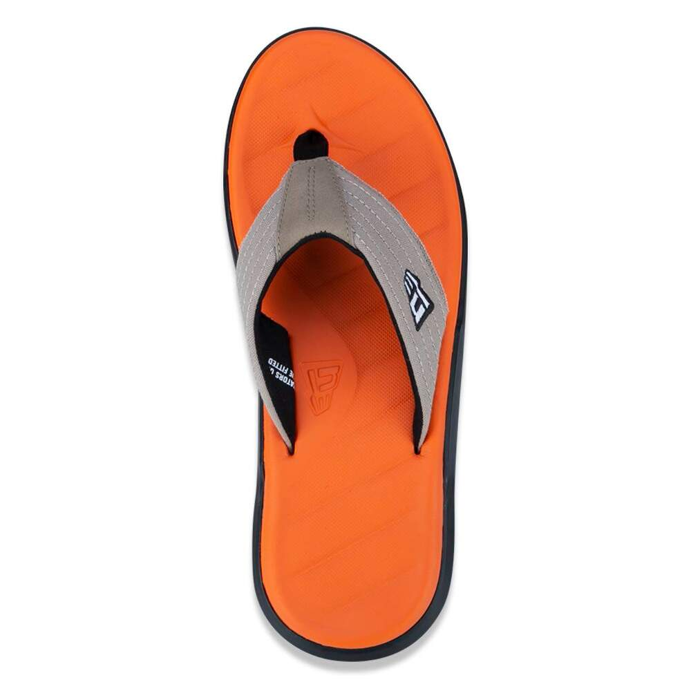 Chinelo New Era Dedo Logo Natural / Laranja