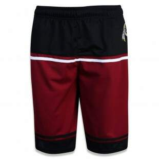 Bermuda New Era Performance Washington Redskins NFL Preta / Vinho