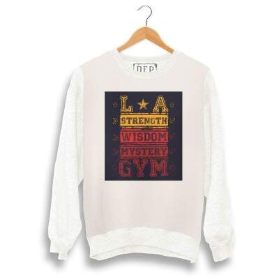 Blusa Dep LA Gym Moletom Bege / Off