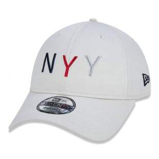 Boné New Era Strapback New York Yankees MLB Aba Curva Bege