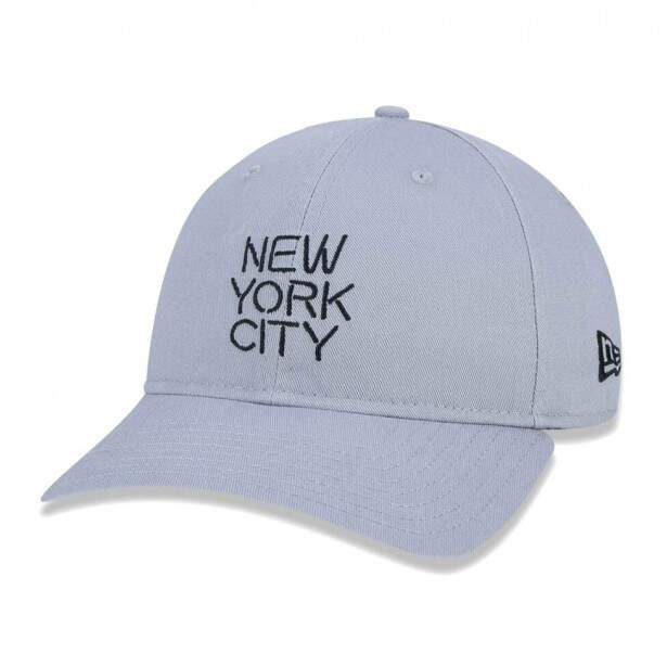 Boné New Era Strapback New York City Brooklyn Nets Curva Cinza
