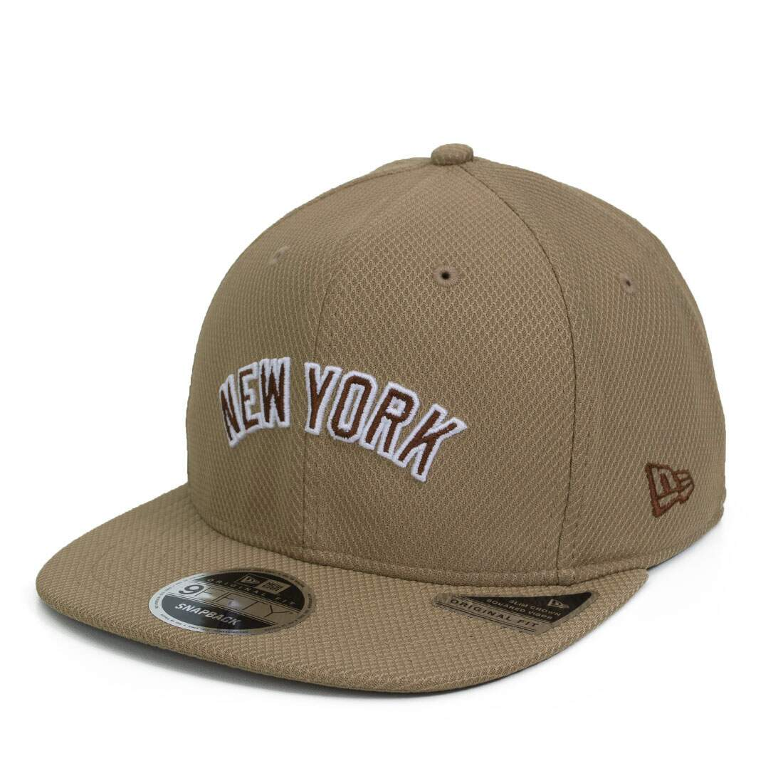Boné New Era Snapback New York Yankees Original Fit Caramelo