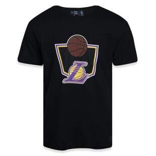 Camiseta New Era Los Angeles Lakers NBA Preta