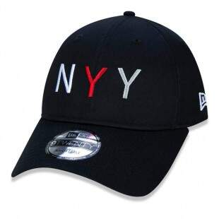Boné New Era Strapback New York Yankees MLB Aba Curva Preto