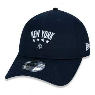 Boné New Era Strapback New York Yankees MLB Aba Curva Marinho