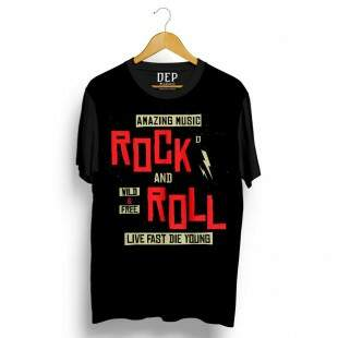 Camiseta Dep Rock And Roll Preta