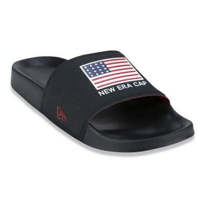 Chinelo New Era Slide EUA Preto