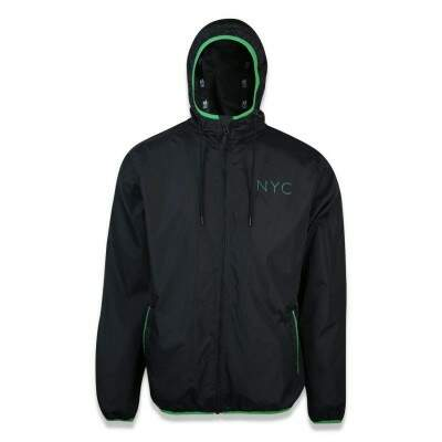 Jaqueta New Era Corta Vento NYC Windbreak Preta Flúor