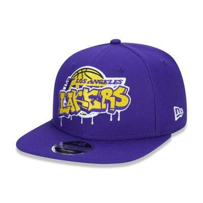 Boné New Era Snapback Los Angeles Lakers Original Fit NBA Roxo