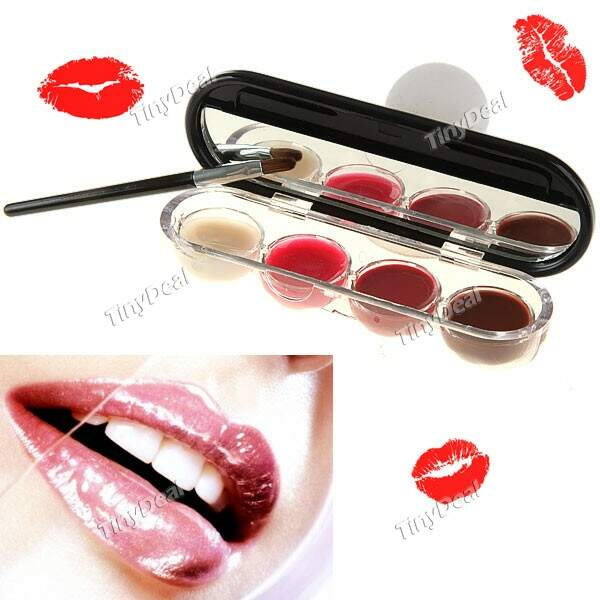 4 cores Tinted Batom Lip Gloss Balm Plumper Concealer Containers Makeup