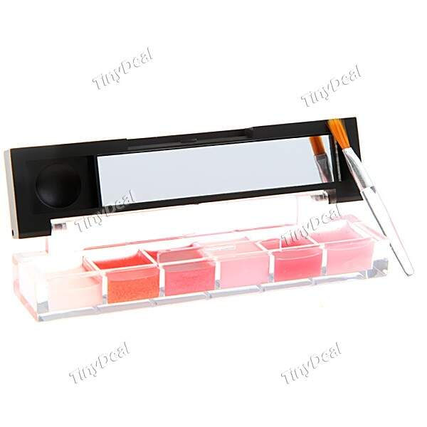 6 Cores Tinted Batom Lip Balm Gloss Plumper Concealer Containers Makeup
