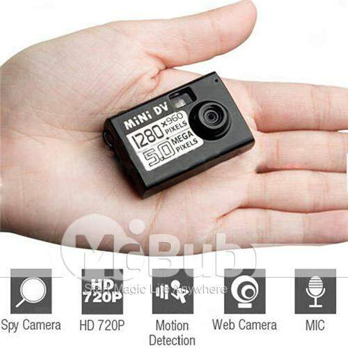 Proton 720P HD Mini Spy Camera DV com Sensor de Movimento