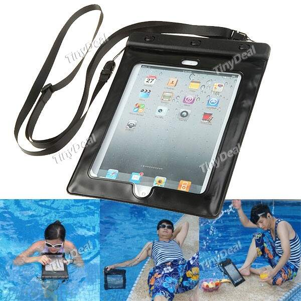 Smart Design impermeável Deepness Bag Waterproof Case Bolsa para Apple iPad 2/3 do iPad Novo