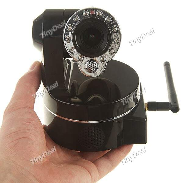 Night Vision WiFi Wireless / Wired IP Camera Webcam Recorder 2-Way Áudio