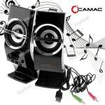 (CAMAC) CMK-878 Amplificador Stereo Speaker Portátil para PC Player Notebook Laptop