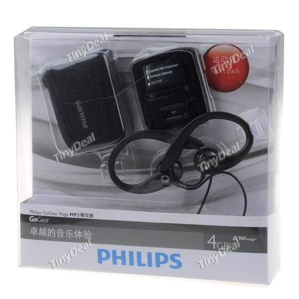 (PHILIPS) Mini 4GB Digital Sports MP3 Player Music Player com Rádio FM