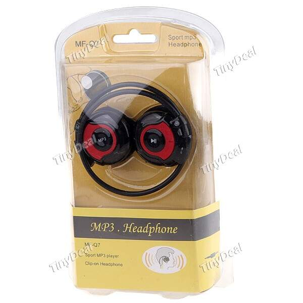 Sports MP3 Stereo Headset Headphones Earphones com TF slot para cartão