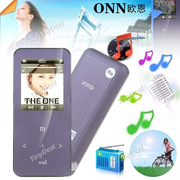 TFT bonito Mini Recarregável 4GB MP3 MP4 Player Music Player com cabo USB